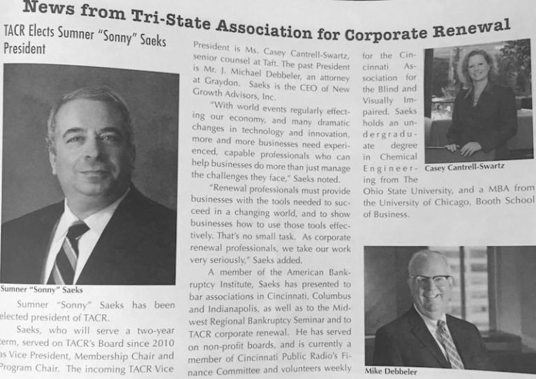 TACR Newspaper Article